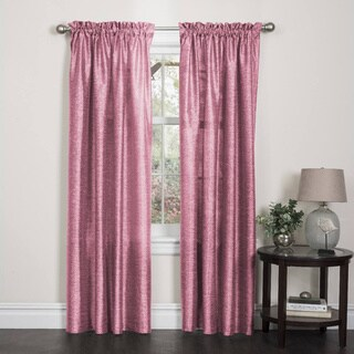 Two-Toned Pink Faux Silk Rod Pocket Curtain Panel