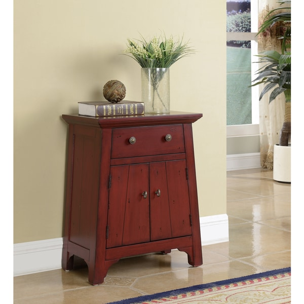 Somette Red Weathered 2-Door Cabinet