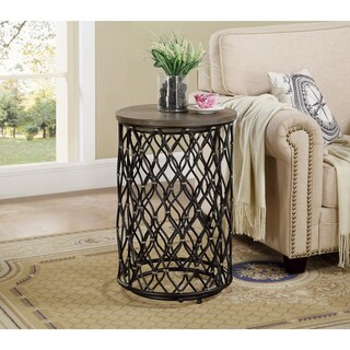 Somette Bronze Metal Nesting Accent Tables (Set of 2)
