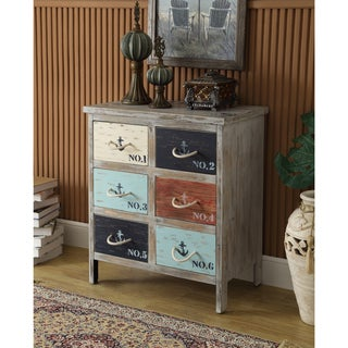 Somette Grey Weathered 6-Drawer Chest