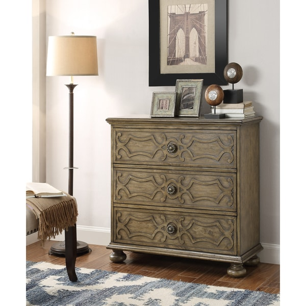Somette Tan 3-Drawer Chest