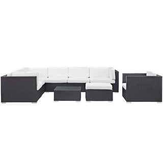 Modrest Gather 9-Piece Outdoor Patio Sectional Set