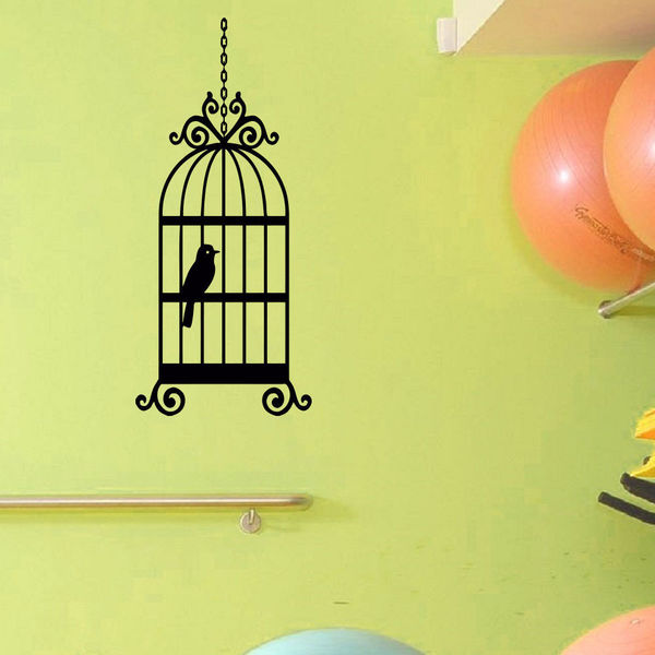 Birdcage Vinyl Wall Art Decal Sticker
