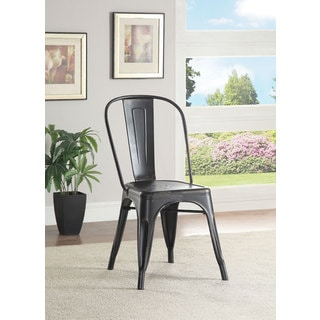 Coaster Oswego Collection Galvanized Cafe Chair (Set of 4)