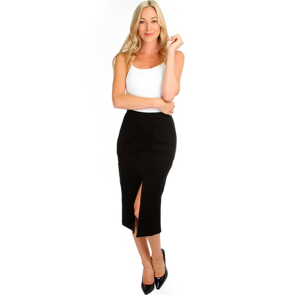 Suit Your Fancy Midi Skirt with Front Pockets