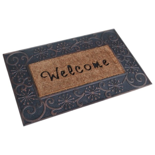 A1 Home Large Coir Brush Welcome Mat