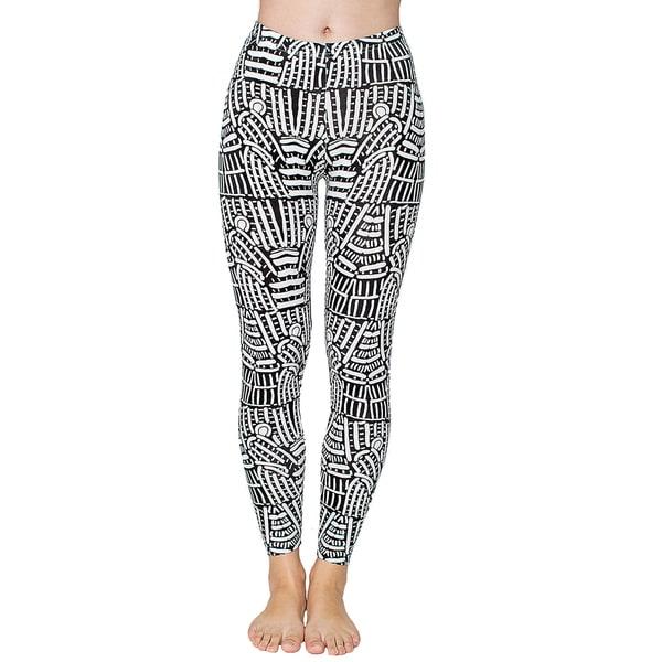 American Apparel Women's Print Cotton Spandex Jersey Leggings