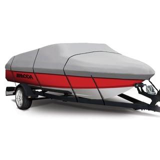 Coverking Presidium Grey V-Hull Fishing Boat (A) 12 - 14 ft. x 75-inch BW Semi-custom Boat Cover