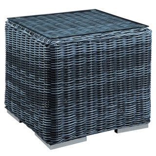 Rst Brands Espresso Rattan Patio Side Table 14129847