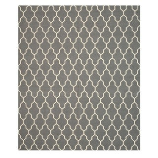 Hand-knotted Modern Moroccan Reversible Wool Kilim Rug (9' x 12')