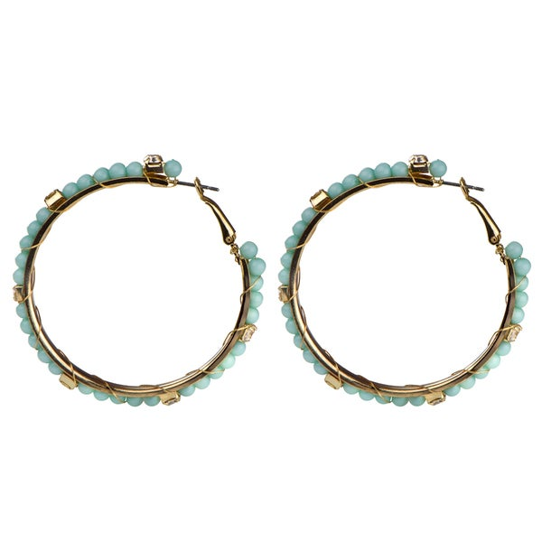 Mint Green Hoop Earrings