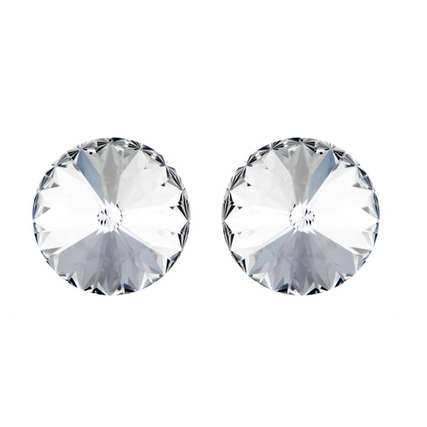 April Clear Austrian Crystal Birthstone Stud Earrings