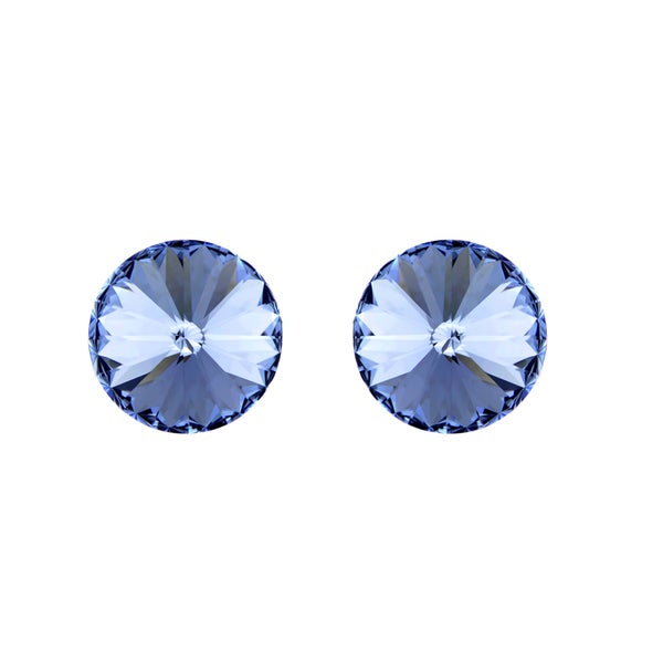 Blue Austrian Crystal December Birthstone Stud Earrings