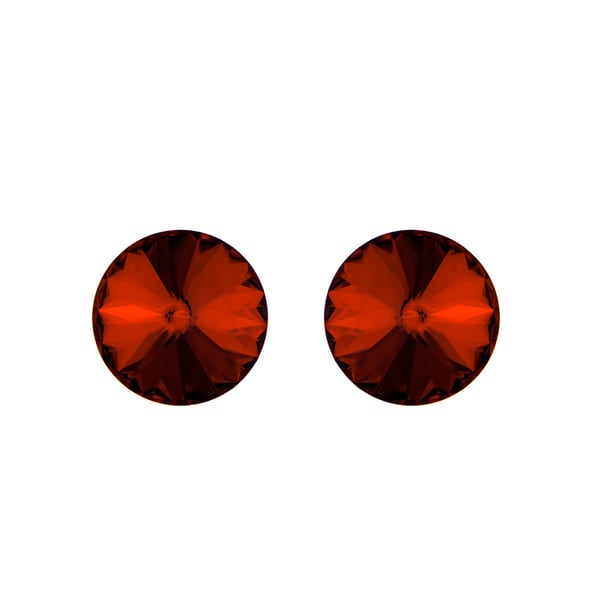 Garnet Austrian Crystal January Birthstone Stud Earrings