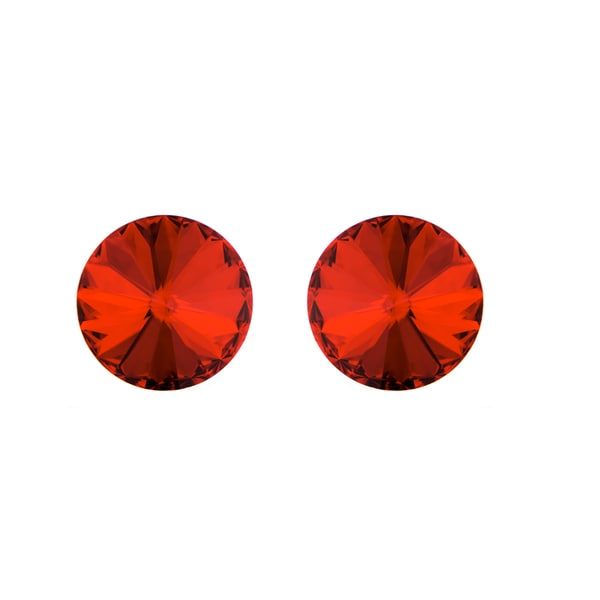 Red Austrian Crystal July Birthstone Stud Earrings