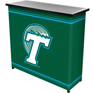 Tulane University 2 Shelf Portable Bar w/ Case
