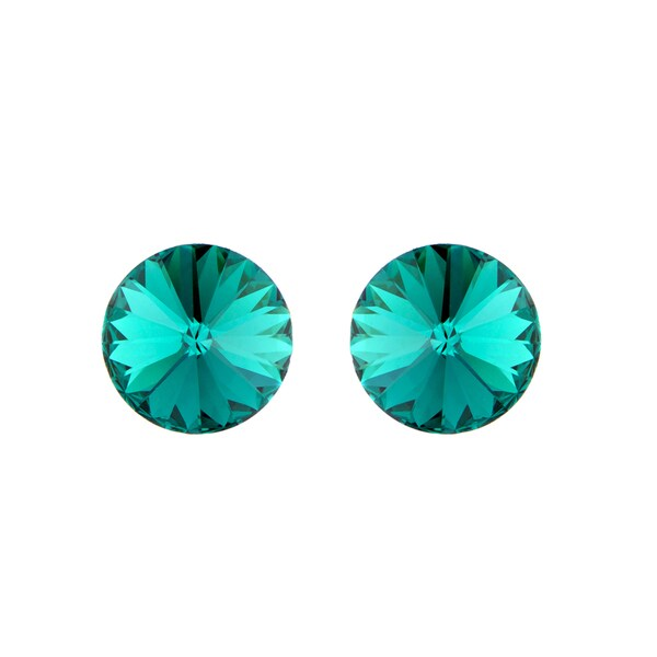 Green Austrian Crystal May Birthstone Stud Earrings