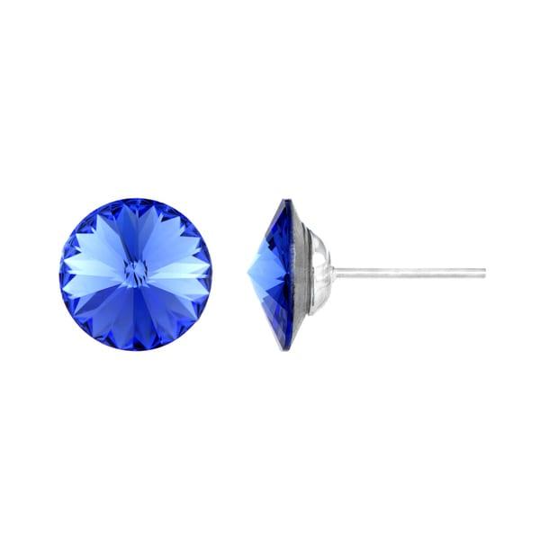 Sapphire Austrian Crystal September Birthstone Stud Earrings