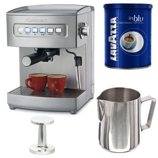 Cuisinart EM-200 Programmable 15-Bar Espresso Maker Bundle