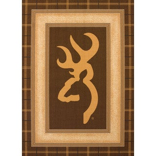 Browning Buckmark Brown Accent Rug (3'3 x 4'11)