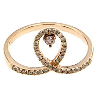 Diamonds For a Cure 18k Rose Gold 1/4ct TDW Pink Diamond Breast Cancer Ribbon Ring