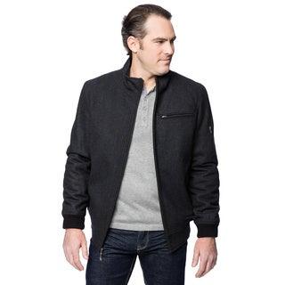 Claiborne Men's Wool Zip Front Bomber Jacket