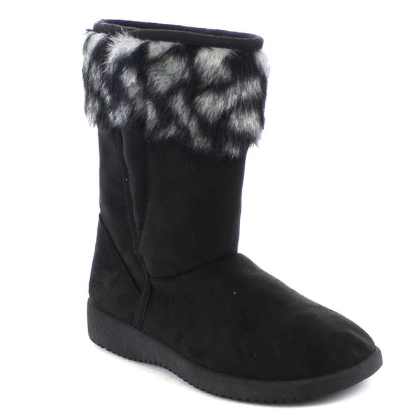 Beston Women's Casual Faux Fur Ankle Snow Boots