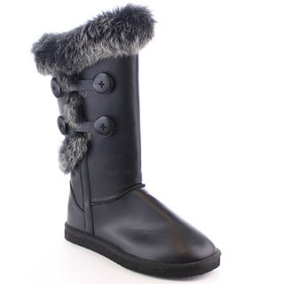 Beston Fa14 Women's Fashion Faux Fur Mid-calf Warm Snow Boots