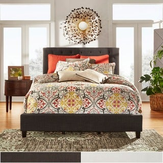 Tribecca Home Kingsbury Tufted King-Size Upholstered Platform Bed