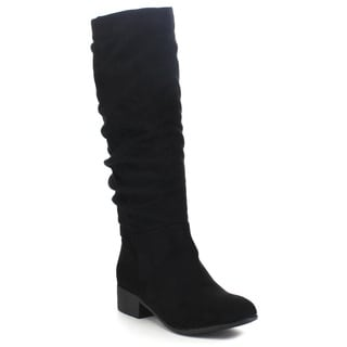Soda Women's 'Index' Classic Slouchy Cowboy Knee-High Riding Boots
