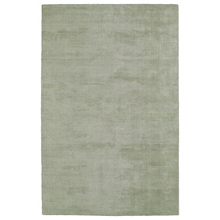 Solid Chic Celery and Brown Hand-Tufted Rug (9'0 x 12'0)