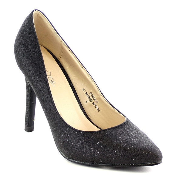 Beston Fa29 Women's Pointed Toe Comfort Glitter Slip On Career Prom Dress Pumps