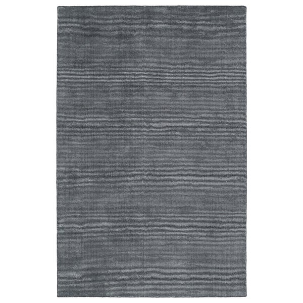 Solid Chic Carbon and Dark Grey Hand-Tufted Rug (2'0 x 3'0)