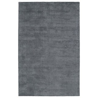 Solid Chic Carbon and Dark Grey Hand-Tufted Rug (9'0 x 12'0)