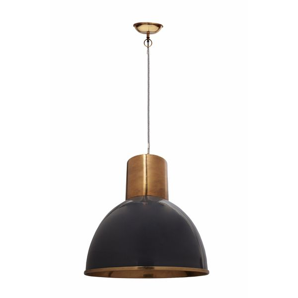 Aurelle Home Marshall Pendant Lamp Grey