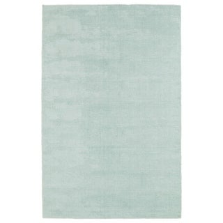 Solid Chic Mint and Ivory Hand-Tufted Rug (2'0 x 3'0) - 2' x 3'