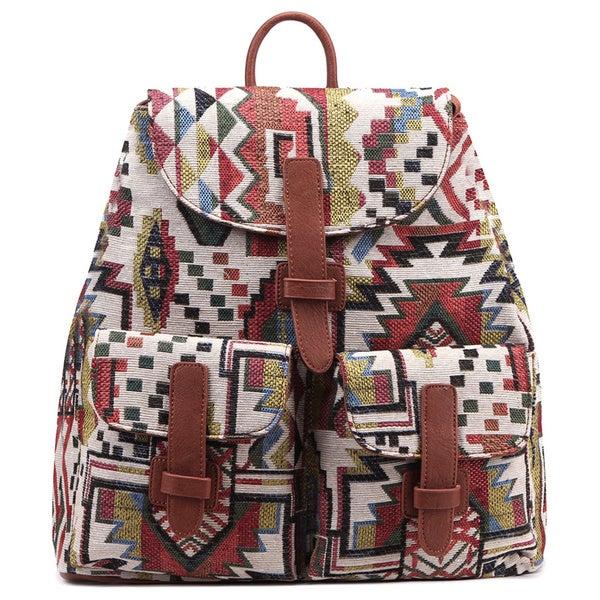 Pink Haley Evelyn Fur Backpack