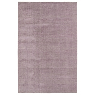 Solid Chic Lilac and Khaki Hand-Tufted Rug (9'0 x 12'0)