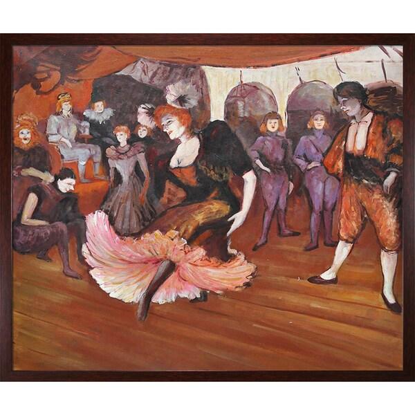 Henri de Toulouse-Lautrec 'Marcelle Lender Dancing in the Bolero in Chilperic, 1895' Hand Painted Framed Canvas Art