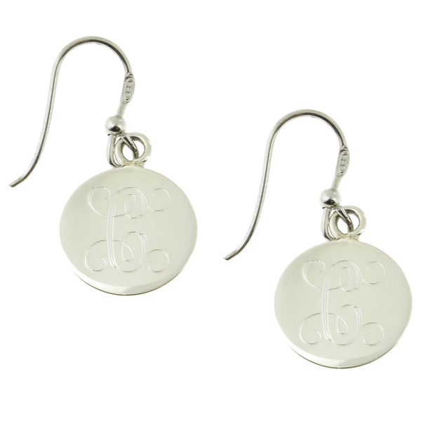 Handcrafted Sterling Silver High Polish Engraved Round Drop Earrings (Mexico)