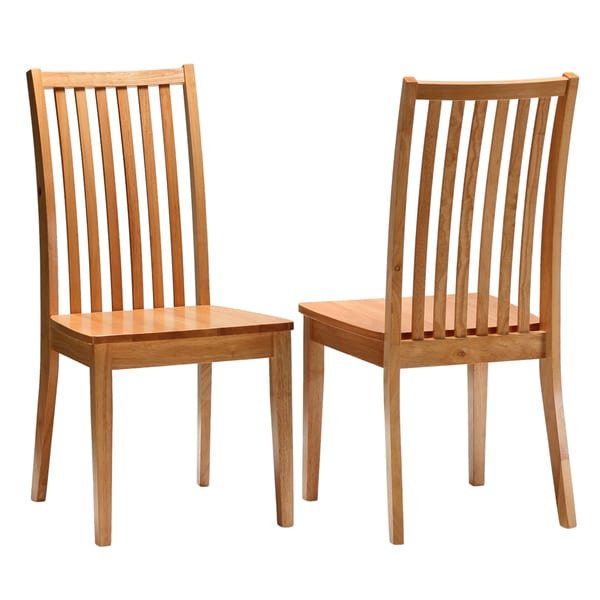 Cortesi Home New England Oak Dining Chair (Set of 2)