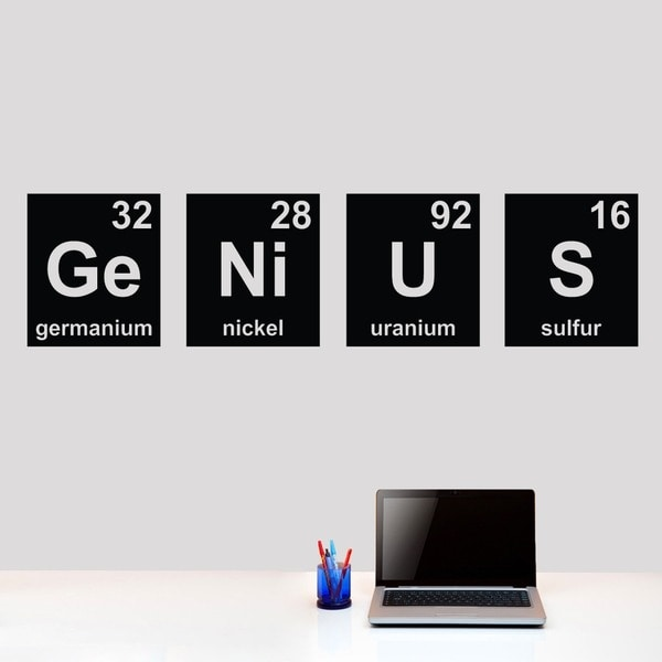 Genius Periodic Table 60 x 15 Wall Decal