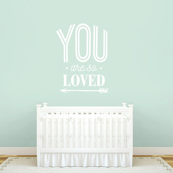 You Are So Loved 35-inch x 48-inch Wall Decal