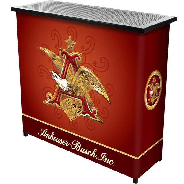 Anheuser Busch A & Eagle 2 Shelf Portable Bar w/ Case