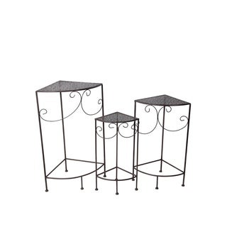 Privilege Black 3 Piece Plant Stands