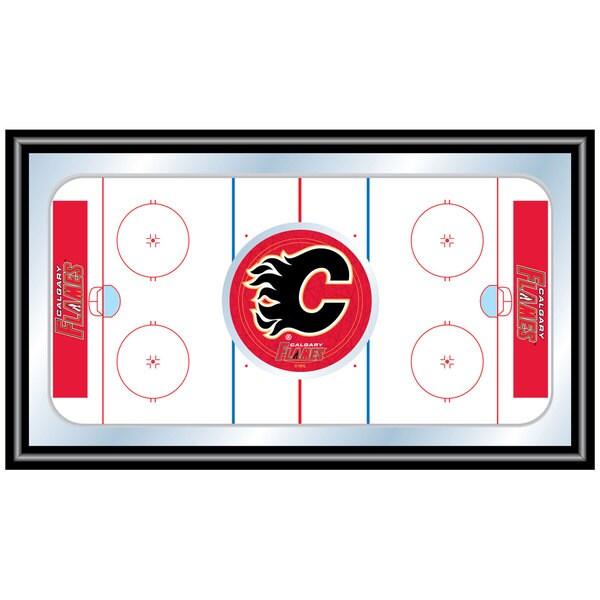 Calgary Flames Framed Hockey Rink Mirror