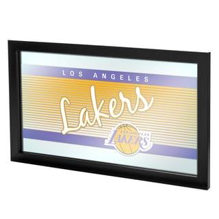 Los Angeles Lakers Hardwood Classics NBA Framed Logo Mirror