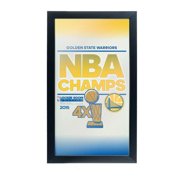Golden State Warriors Framed Logo Mirror - 2015 NBA Champs