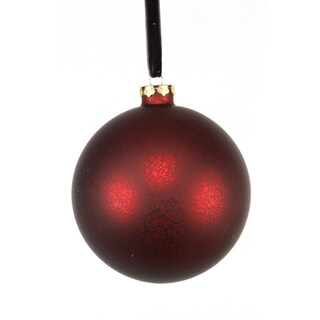 Matte Glass Finish Ball 5-inch Ornament