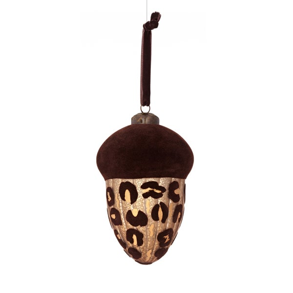 Jewel Glass Acorn Top Ornament